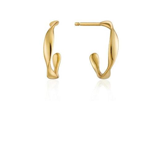 Twist mini hoop earrings gold