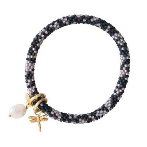 Armband Jacky Multi color maansteen goud