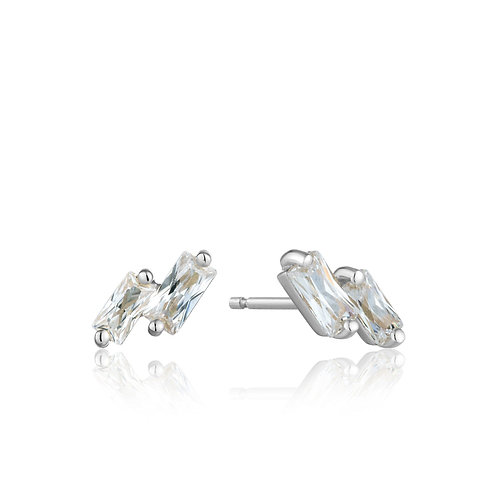 Glow stud earrings silver