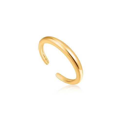 Luxe band adjustable ring gold