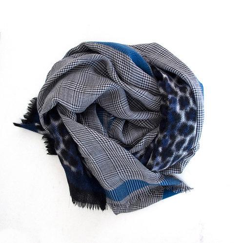 Sjaal Emmalyn blue Kashmir