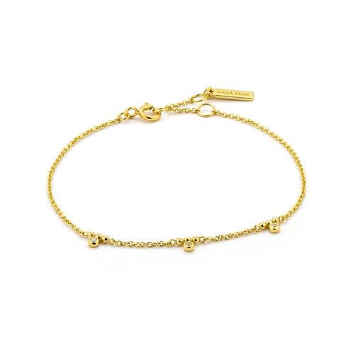 Armband Shimmer triple stud gold