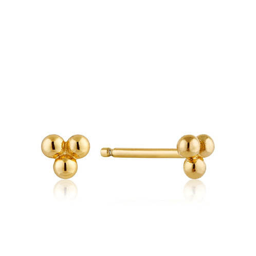 Modern chain stud earrings gold