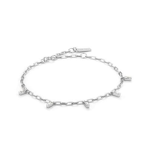 Glow dropbracelet silver