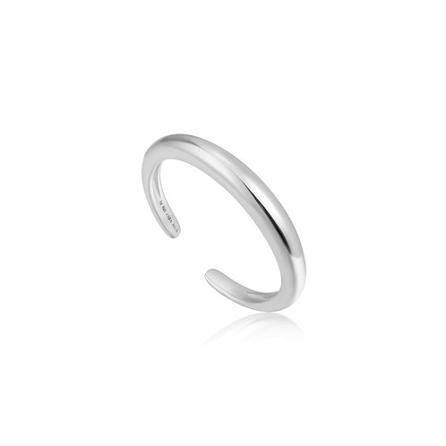 Luxe band adjustable ring silver