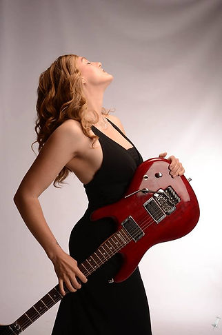 Lindy Day - female lead guitarist - with Joe Satriani Signature Ibanez