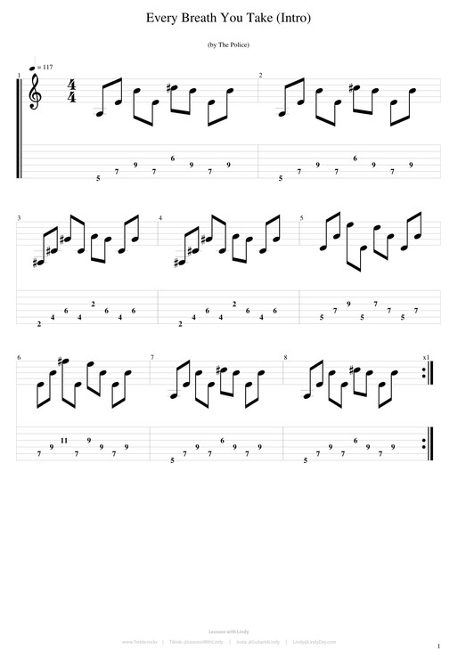 Pinky exercises (Every Breath You Take)