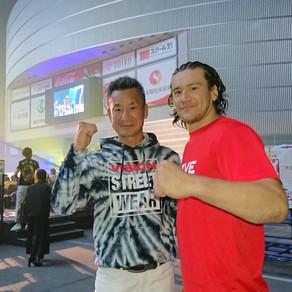 埼玉スパーアリーナにk1観戦!! ヘビー級上原選手に見事勝利!! 加藤久輝さんです! 私の友達は、名古屋 ALIVEさんでこの加藤さんからご指導いただいています!