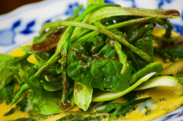 Frittata cotta a fuoco dolce con verdure