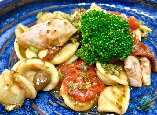 Orecchiette con pesce spada e broccoli