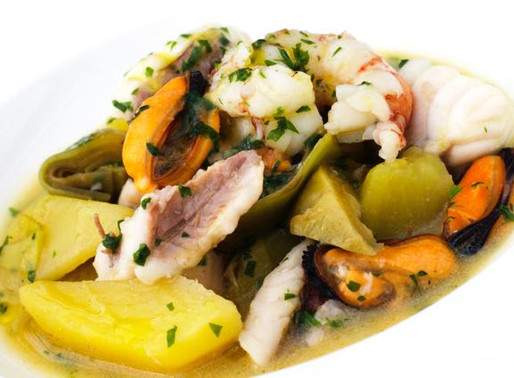 Misto di pesce con carciofi e patate in umido - Mixed fish with artichokes and stewed potatoes