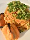 Talgliatelline con salsa di cozze e panko