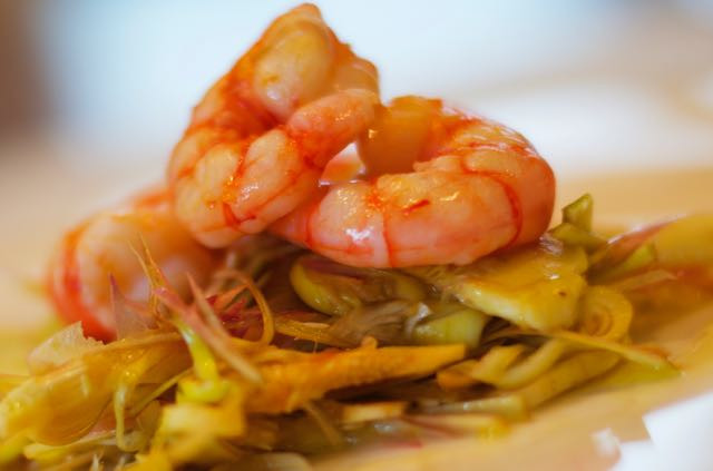 Gamberi e carciofi - Prawn and artichokes