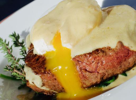 Filetto con uovo in camicia, spiancini e salsa al foie gras - Fillet with poached egg, spinach and f