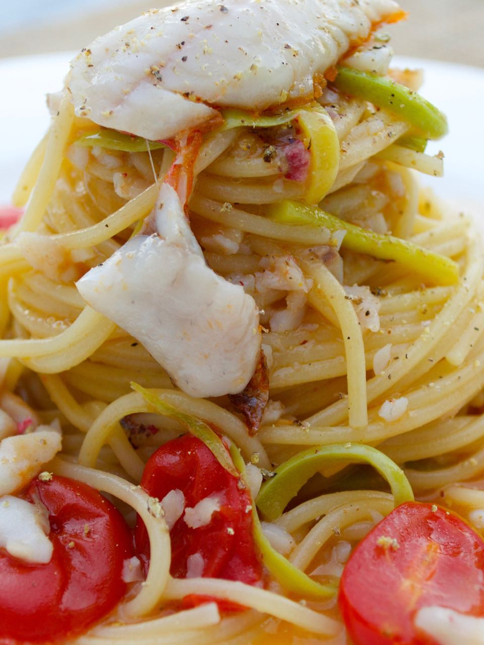 Spaghettini con le triglie - Mullet spaghetti