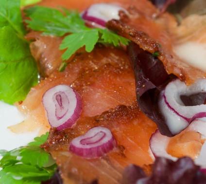Salmon pastrami