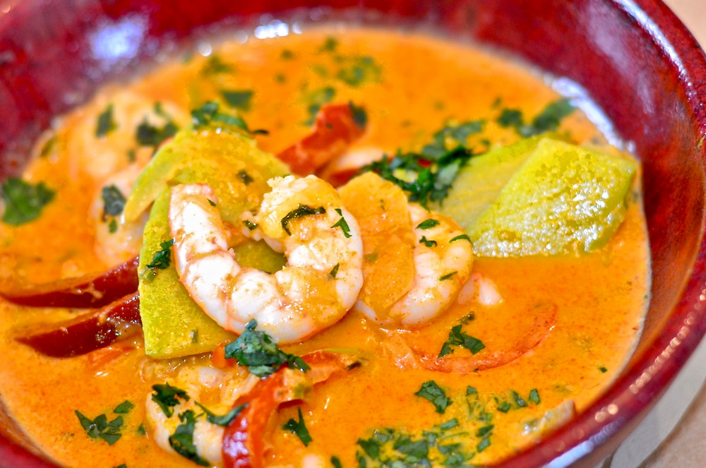 Thai Red Curry con gamberi - Thai red curry with shrimps