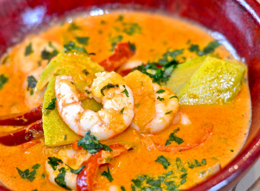 Thai Red Curry con gamberi - Thai red curry with shrimps – Italian version