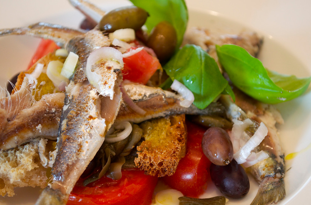 Crostone con le sarde - Sardines on toasted bread