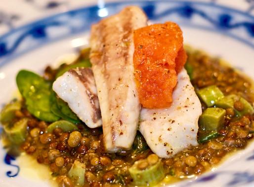 Lenticchine di Ustica con cefalo cerino - Ustica lentils with cerino mullet