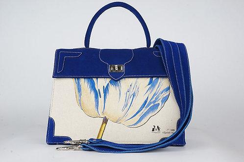 "Marquise daim bleu roy toile ""la tulipe bleue"" 1392"