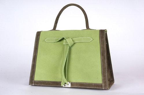 Marquise  daim vert perroquet & bronze     6987