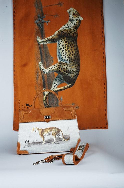 """Foulard   """" La panthère & le tigre """" gold"""