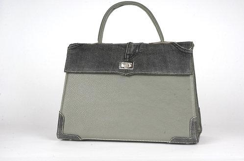 Medicis cuir gris jean gris foncé 8060