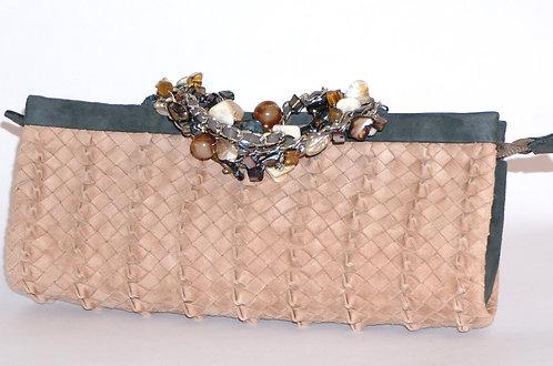 Trianon pochette bracelet daim terracotta 5571
