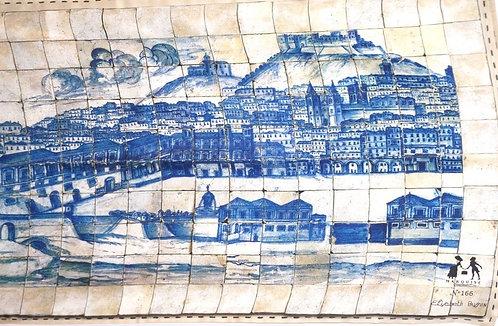 """Foulard Marquise """"Mosaïque"""" bleu"""