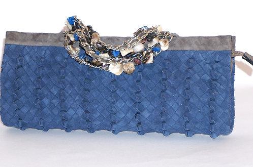 Trianon pochette bracelet daim bleu marine 5567