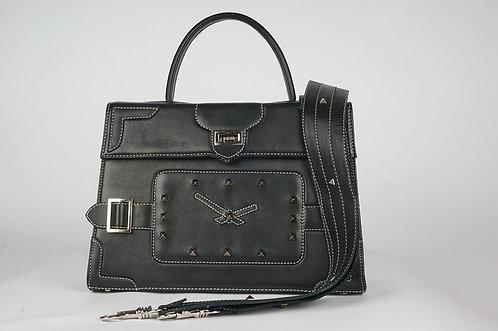 """""""Le Temps Marquise"""" cuir noir 1398"""