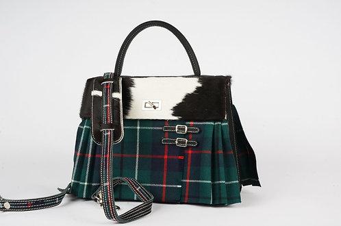 Girly Highland Tartan vert fil rouge vache noire blanche 7875
