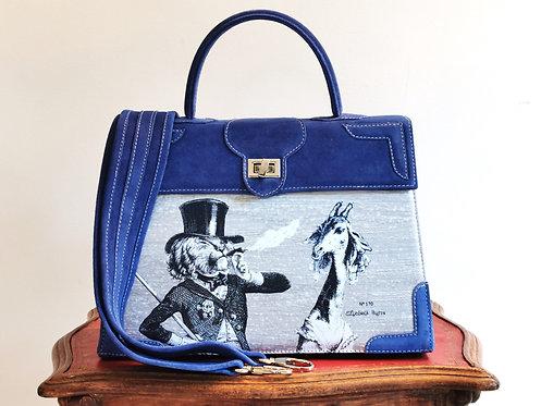 Marquise daim bleu roy Le lion & la girafe 10094