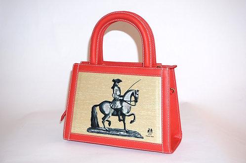 MINI Pompadour Cuir rouge vermillon cavalier 5737