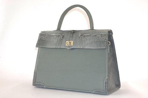Médicis cuir gris & jean gris 7981