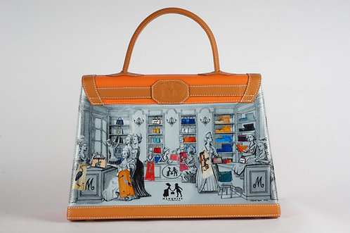 "Marquise cuir orange ""Le Boudoir Marquise"" 6618"