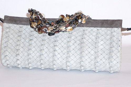 Trianon pochette bracelet daim perle 5566