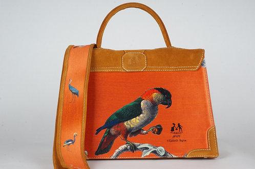 "Medicis"" Le Perroquet orange ""  daim havane 8350"