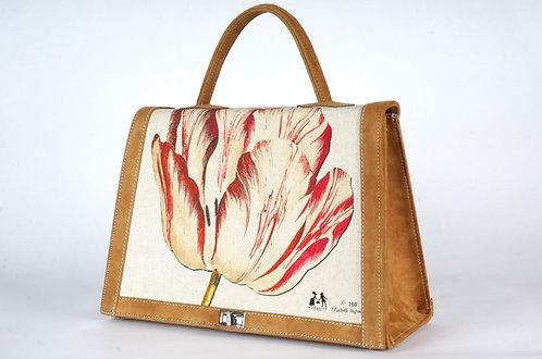 "Marquise daim havane ""la tulipe rouge et le geai rouge"" 7460"