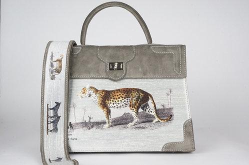 Médicis daim gris toile de lin panthère & tigre 8382