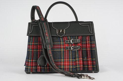 Medicis Highland gris & rouge  cuir noir 8432