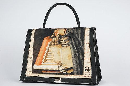 """Marquise Arcimboldo """"L' homme livres"""" cuir noir 7740"""