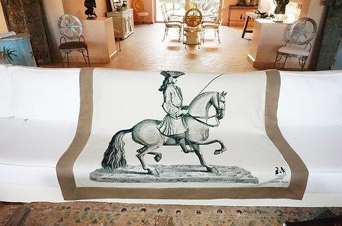 """PLaid Marquise  """"Cavalier"""" drap de laine taupe"""