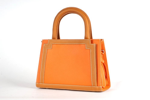 MINI Pompadour Cuir orange & gold 6641