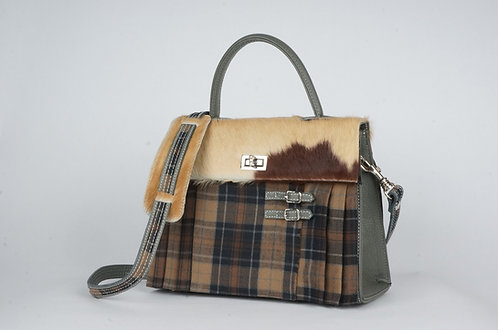 Girly Highland caramel & gris vache rousse & paille  7958