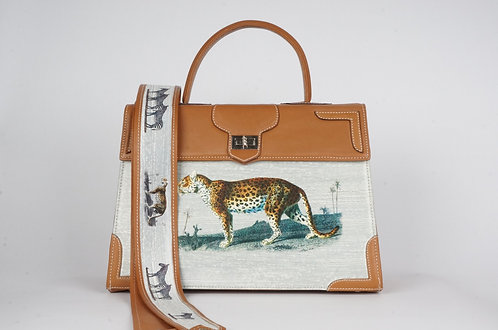 Médicis cuir gold panthère & tigre 7930