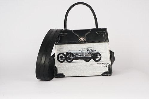 Girly Marquise cuir noir voiture de sport 9273