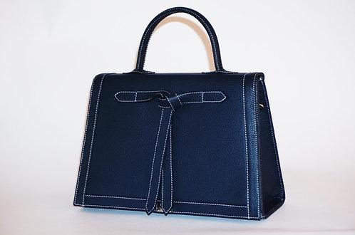 Marquise cuir bleu marine 5856