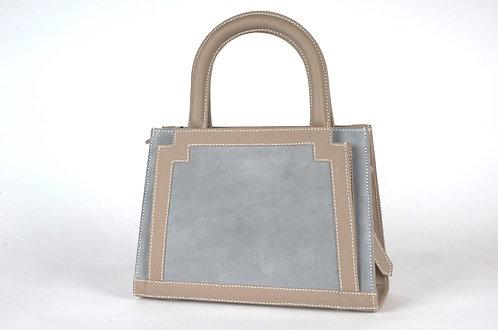 MINI Pompadour daim gris bleu & taupe 6959